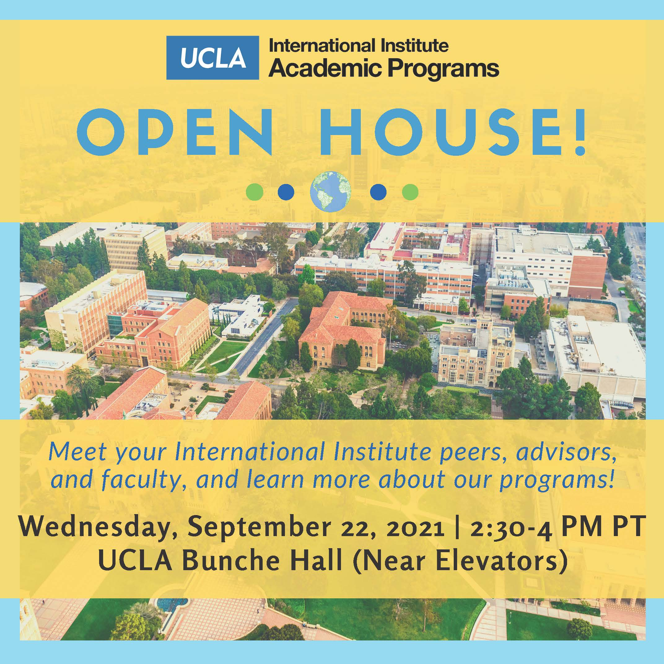 Image for International Institute Open House & Fall Reception For Undergraduates