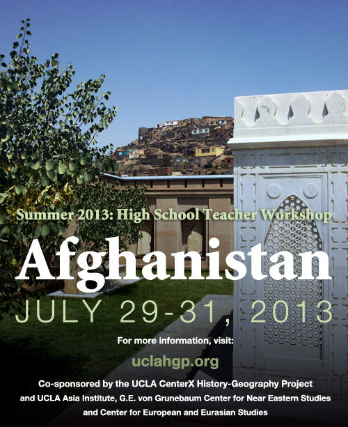 Summer 2013 - High School Teacher Workshop: Afghanistan