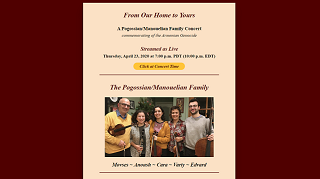 Image for From Our Home to Yours: A Pogossian/Manouelian Family Concert