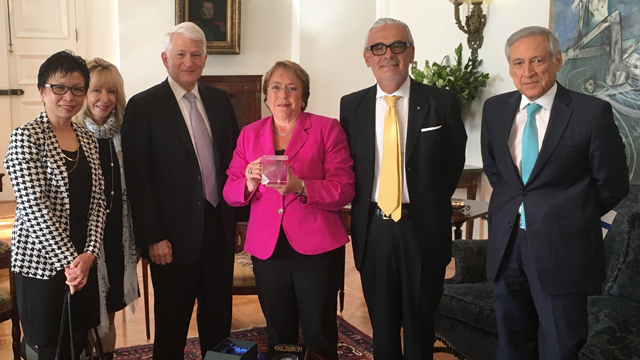 UCLA delegation meets Chilean President Bachelet