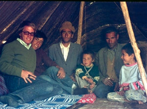 Young Peace Corps volunteer Ericksen with one of the Iranian families who treated him as one of their own.