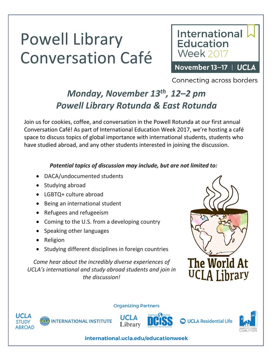 Image for IEW 2017: Conversation Café