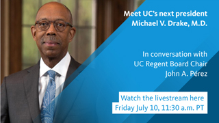 Image for Michael V. Drake, M.D., named UC president