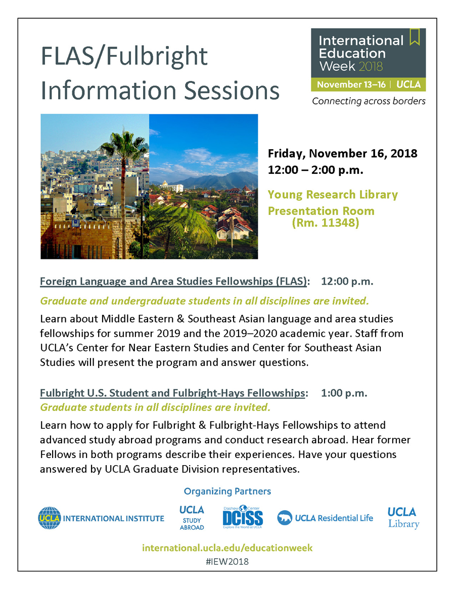 2019-2020 Foreign Language & Area Studies Information Session