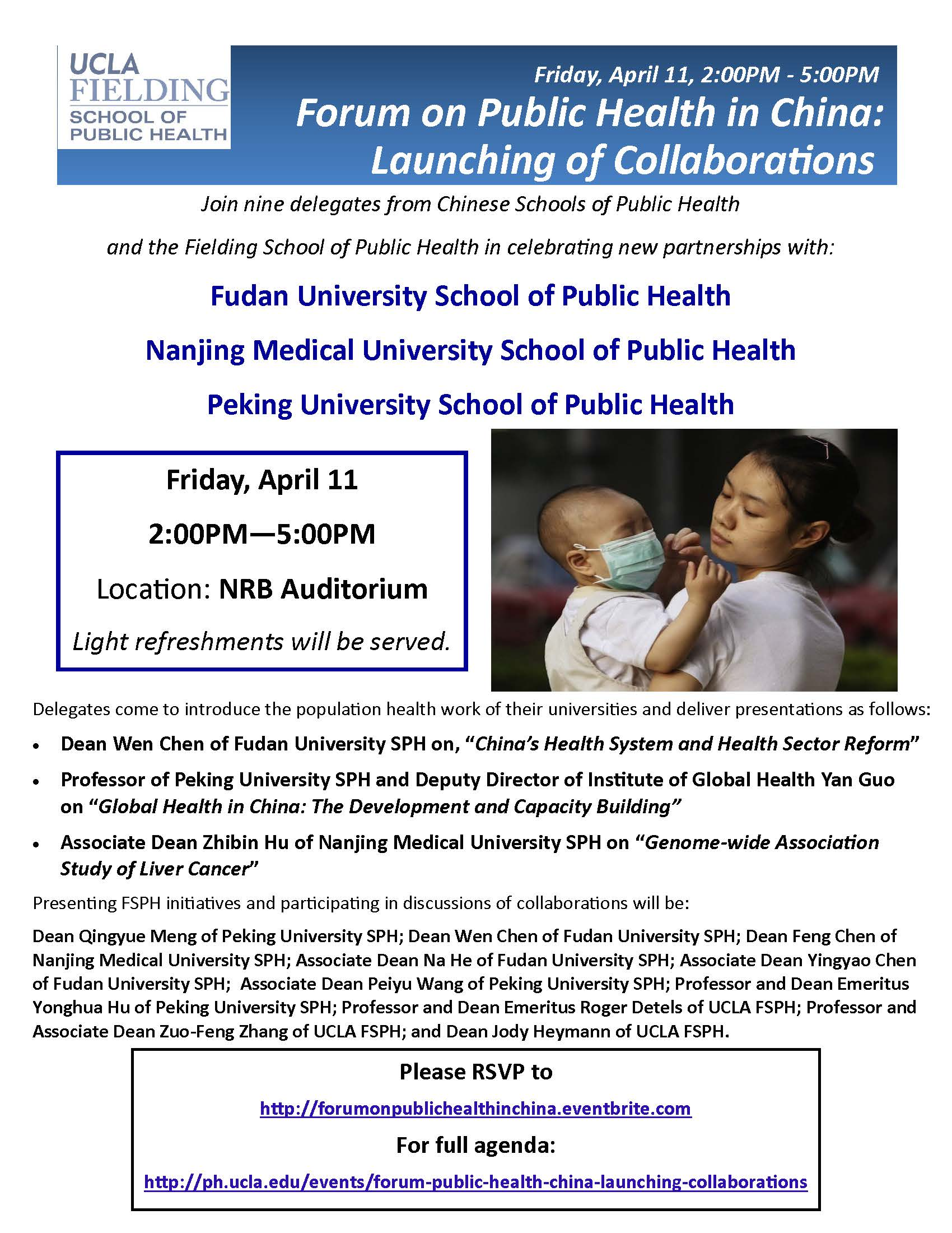Forum on Public Health in China: Launching of Collaborations