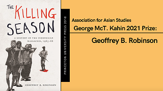 Image for Geoffrey Robinson wins the 2021 George McT. Kahin Prize