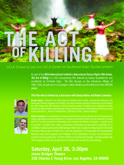 Image for Indonesia film: The Act of Killing