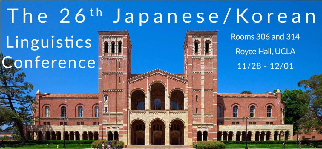 The 26th Japanese/Korean Linguistics Conference