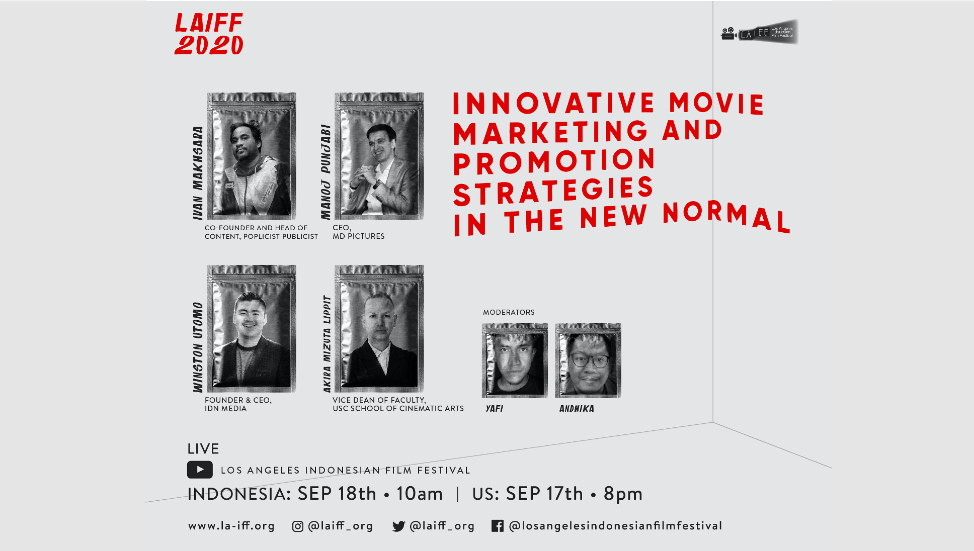Image for LAIFF Panel: Innovative Movie Marketing and Promotion Strategies in the New Normal