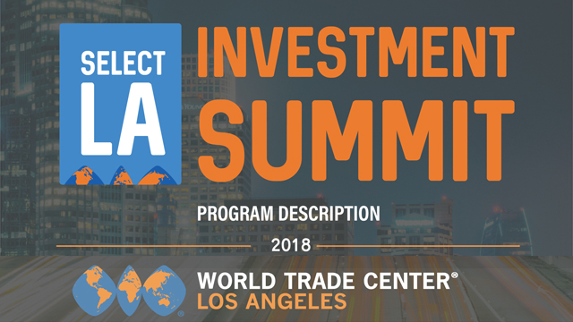 World Trade Center LA to hold investment summit May 23-24