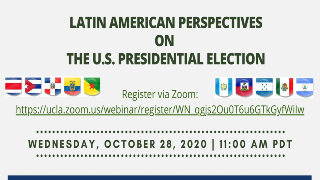 Image for Latin American Perspectives on the U.S. Presidential Election