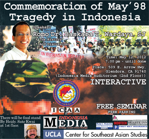 Commemoration of the May 1998 Tragedy in Indonesia