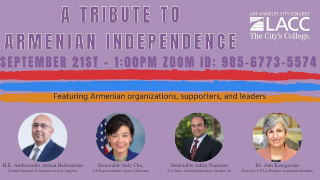 Image for LACC Hosts Armenian Independence Day Zoom Celebration
