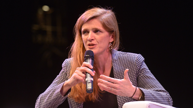 Samantha Power discusses importance of freedom of press in global conflicts