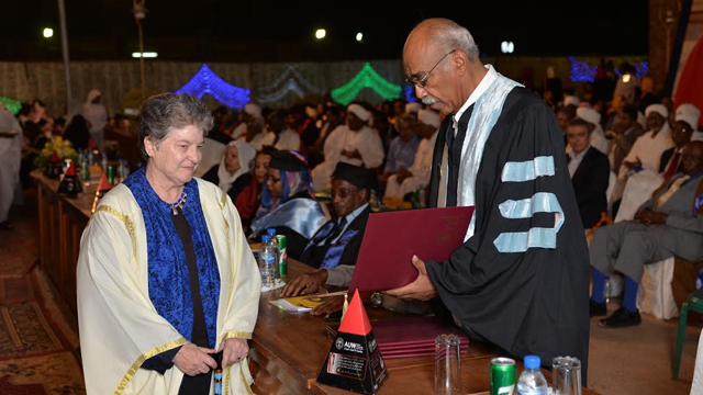 Sondra Hale awarded honorary doctorate