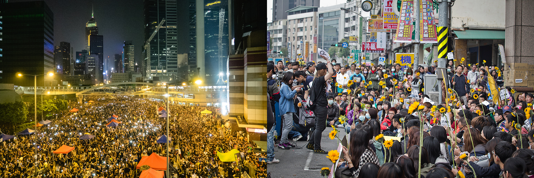 Umbrellas and Sunflowers: Student Movements in Hong Kong and Taiwan