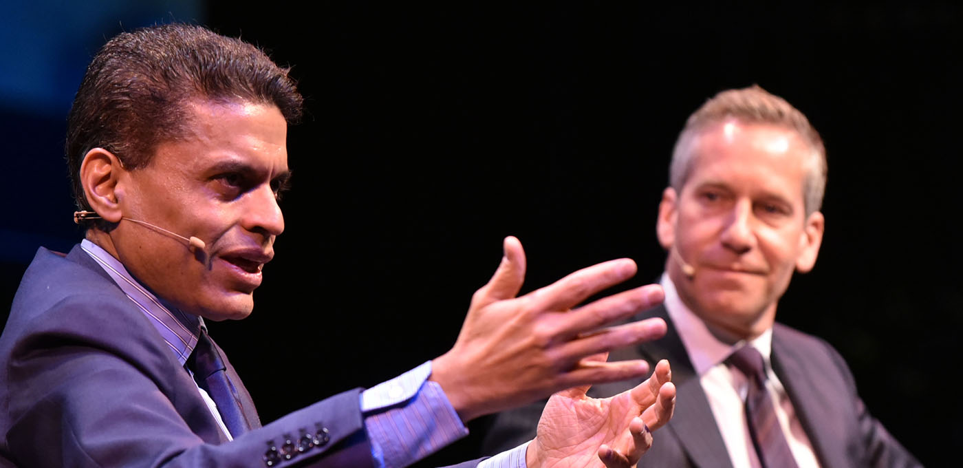 Image for VIDEO AND PODCAST NOW AVAILABLE: Fareed Zakaria delivers the 2017-18 Daniel Pearl Lecture