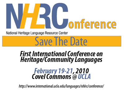 First International Conference on Heritage/Community Languages