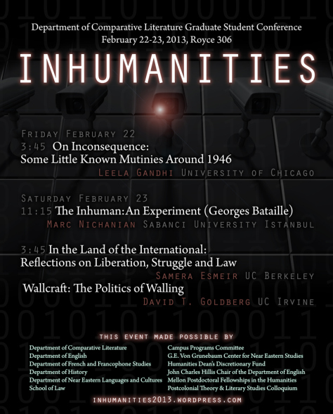 Inhumanities: UCLA Comparative Literature Graduate Student Conference