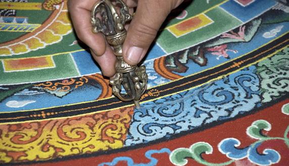 Monks Make Tibetan Art at Hammer