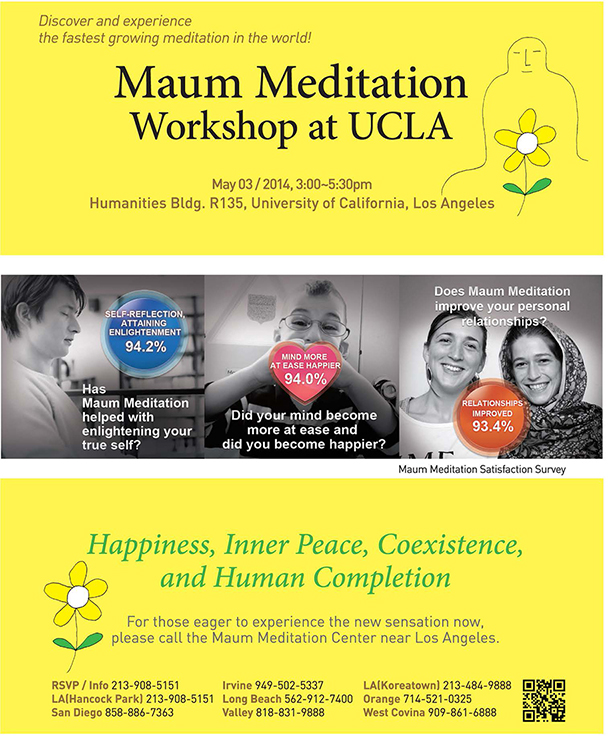 Maum Meditation Workshop at UCLA
