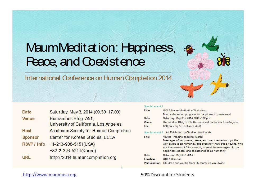 Maum Meditation: Happiness, Peace, and Coexistence