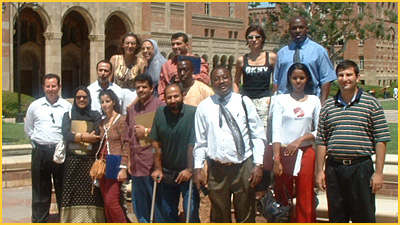 Young Near East, African, and South Asian Professionals Visit UCLA's Center for Civil Society