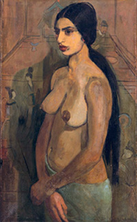 Amrita Sher-Gil, 'Self-Portrait as Tahitian,' 1934 (oil on canvas)